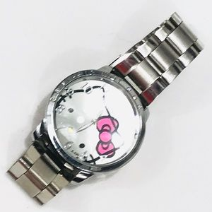 Hello Kitty Silver Toned Watch w/ Rhinestones NWOT